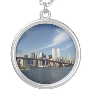 Reflexiones el World Trade Center de las torres ge Colgante Redondo