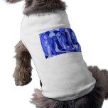 Reflexiones en ángeles ciánicos azules abstractos  ropa perro