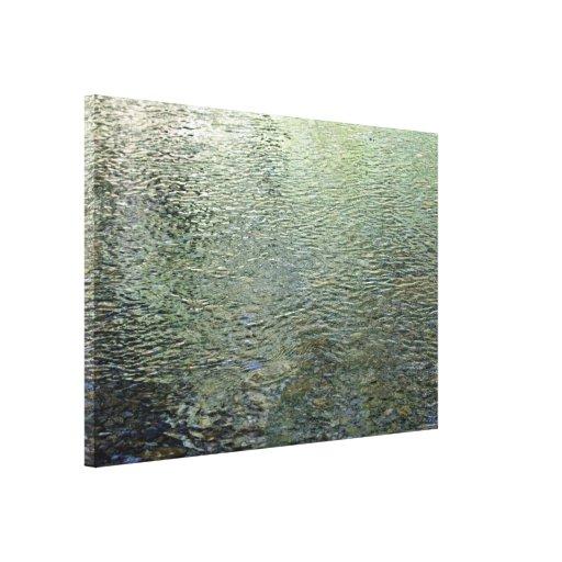 Reflexiones en corriente lienzo envuelto para galerías