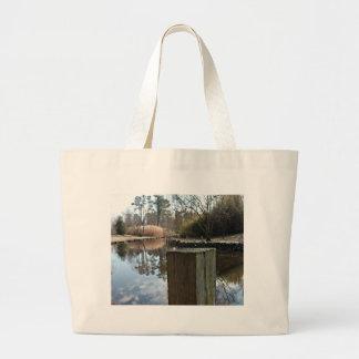 Reflexiones en el agua bolsa tela grande
