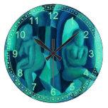 Reflexiones en el azul I, ángeles abstractos de la Relojes
