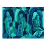 Reflexiones en el azul I - ángeles ciánicos de la Postal