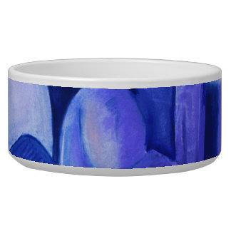 Reflexiones en el azul II - ángeles azules abstrac Tazón Para Perro