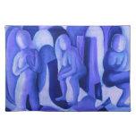 Reflexiones en el azul II - ángeles azules abstrac Mantel