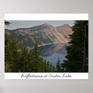 Reflexiones en el lago crater impresiones