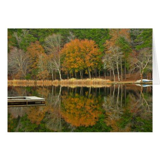 Reflexiones en el lago - Notecard Tarjeta Pequeña