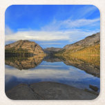 Reflexiones en el lago Tenaya Posavasos Desechable Cuadrado