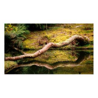 Reflexiones en el parque - calendario del bolsillo tarjetas de visita