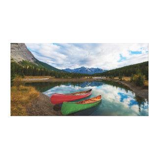 Reflexiones en el parque nacional de Banff Impresiones En Lona