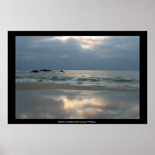 Reflexiones en la costa #1 de California Posters