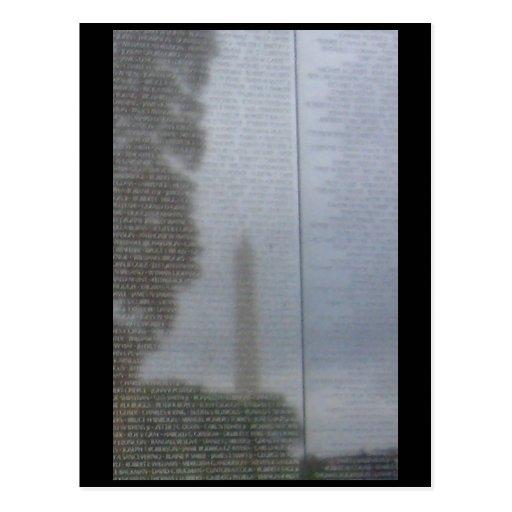 Reflexiones en la pared postal