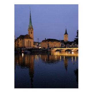 Reflexiones en postal de Zurich, Suiza