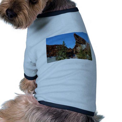 Reflexiones fabulosas en Nueva York Camiseta Con Mangas Para Perro