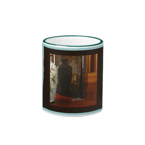 Reflexiones, florero de Cloisonné, café/taza del t