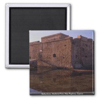 Reflexiones, fuerte medieval, Nea Paphos, Chipre Imán Cuadrado