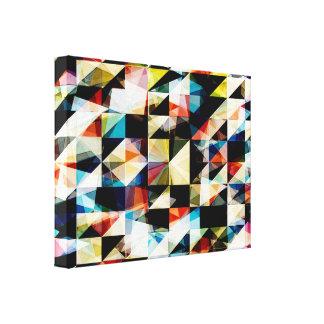 Reflexiones geométricas coloridas impresion en lona