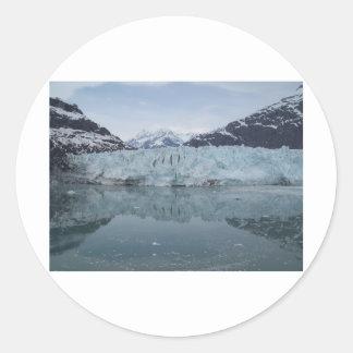 Reflexiones glaciales 2 pegatina redonda