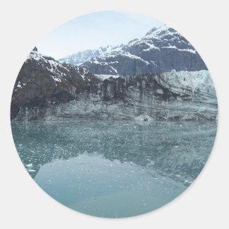 Reflexiones glaciales 3 pegatina redonda
