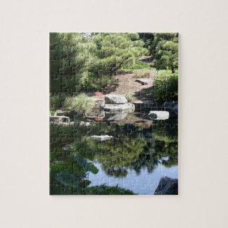 Reflexiones japonesas botánicas del jardín de Denv Puzzle Con Fotos