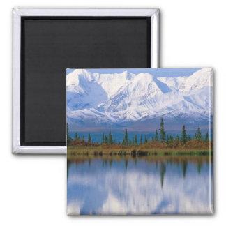 Reflexiones majestuosas, Alaska Imán Cuadrado