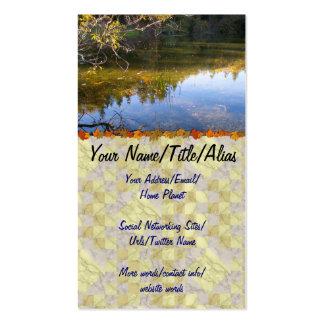 Reflexiones múltiples plantilla de tarjeta personal