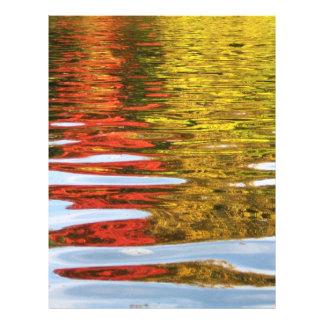 reflexiones otoñales tarjeta publicitaria