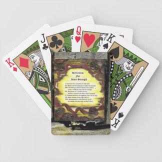 Reflexiones para la fuerza interna baraja cartas de poker