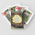 Reflexiones para la fuerza interna baraja de cartas