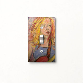 reflexiones populares del chica de la roca cubiertas para interruptor