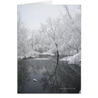 Reflexiones profundas del invierno tarjeta de felicitación