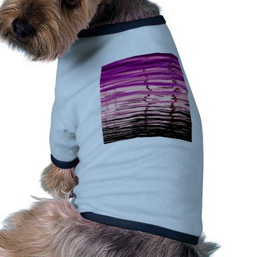 reflexiones púrpuras camiseta con mangas para perro