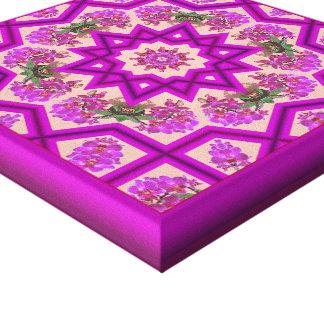 Reflexiones púrpuras del placer de la orquídea impresión en tela