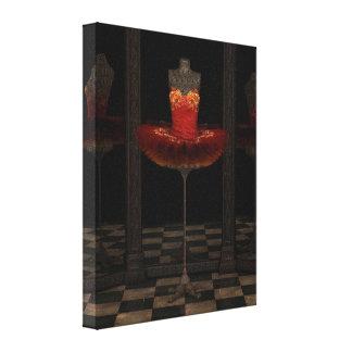 Reflexiones rojas del tutú del ballet clásico de impresion en lona
