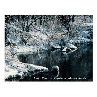 Reflexiones Royalston, Massachusetts del invierno Postal
