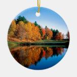 Reflexiones Vermont del otoño Ornamentos Para Reyes Magos