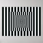 Reflexiones verticales del arte de Op. Sys. blanco Impresiones