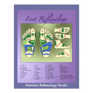 Reflexology chart flyer