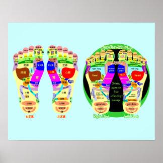 reflexology foot map poster