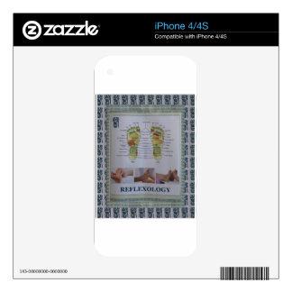REFLEXOLOGY Full Body Poster Body Spirit n Mind Skins For The iPhone 4S