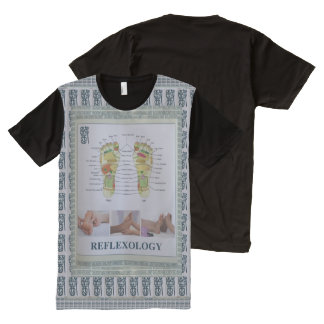 REFLEXOLOGY Health Exercise Naturopathy Gym Humans All-Over-Print T-Shirt