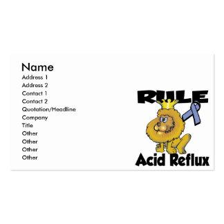 Reflujo del ácido de la regla tarjetas de visita