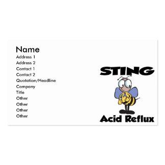 Reflujo del ácido de STING Tarjetas De Visita