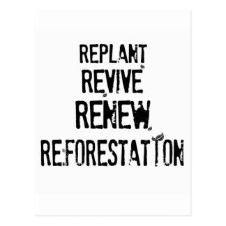 Reforestation! Postcard