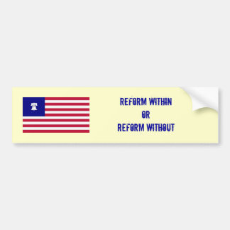 Reform Bumper Car Bumper Sticker