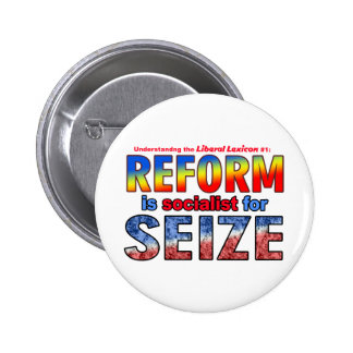 REFORM is Socialist  for SEIZE Pins