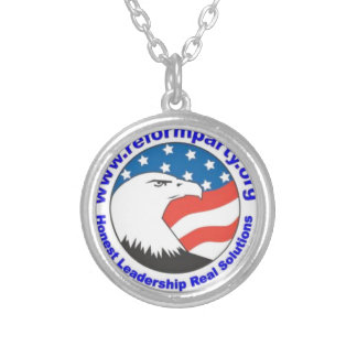Reform Party Eagle 3 Round Pendant Necklace