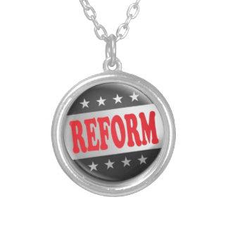 Reform Party Logo 1 Round Pendant Necklace