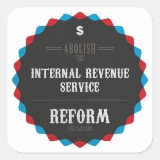 Reform The Tax Code Square Sticker