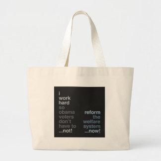 Reform The Welfare System Canvas Bag