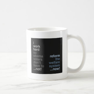 Reform The Welfare System Classic White Coffee Mug